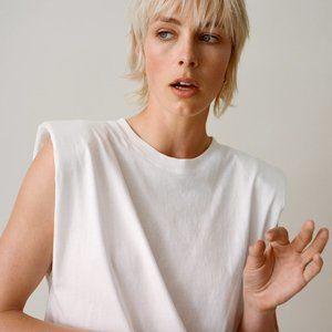 Zara Shoulder Pad Shirt
